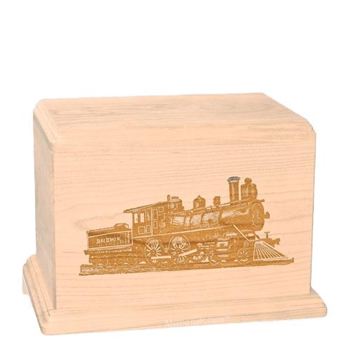 Locomotive Individual Maple Wood Urn