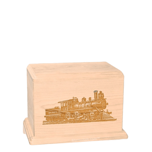 Locomotive Small Maple Wood Urn