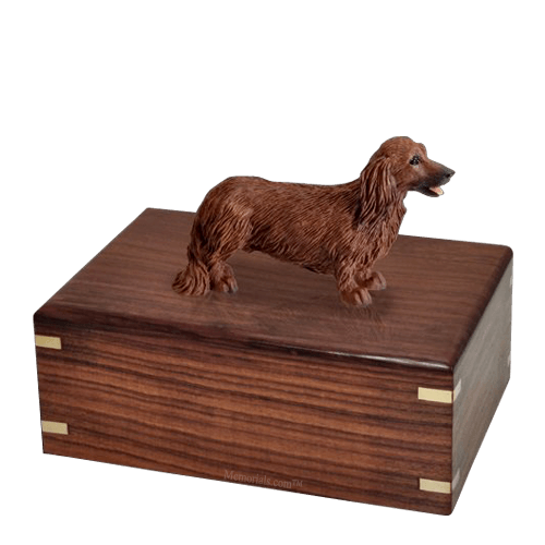 Longhair Dachshund Large Doggy Urn