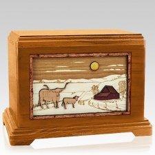 Longhorn Mahogany Hampton Cremation Urn