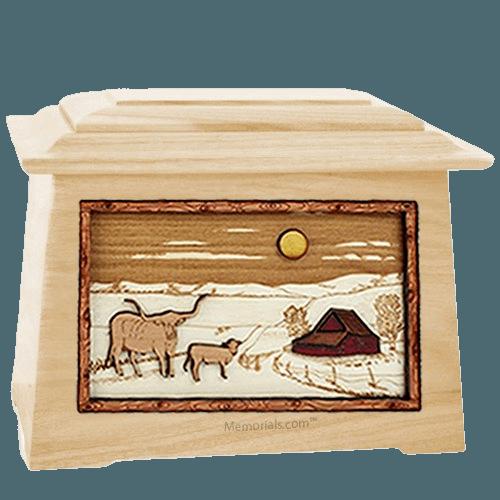 Longhorn Maple Aristocrat Cremation Urn