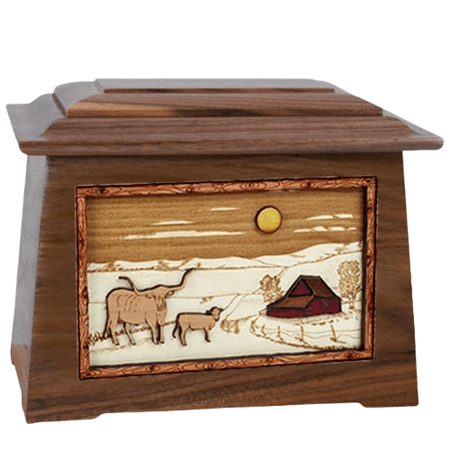 Longhorn Walnut Aristocrat Cremation Urn