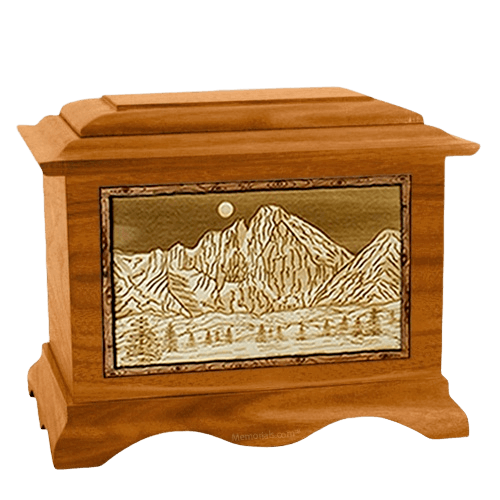 Longs Peak Mahogany Cremation Urn