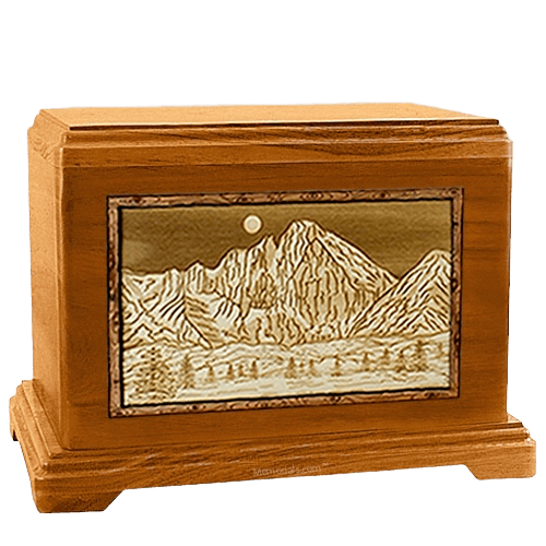 Longs Peak Mahogany Hampton Cremation Urn