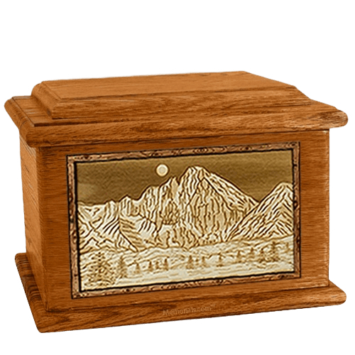 Longs Peak Mahogany Memory Chest Cremation Urn