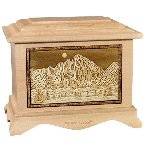 Longs Peak Maple Cremation Urn