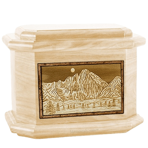 Longs Peak Maple Octagon Cremation Urn