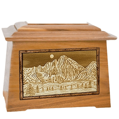 Longs Peak Oak Aristocrat Cremation Urn