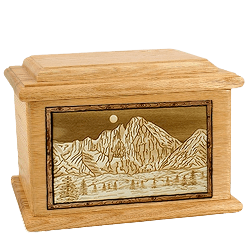 Longs Peak Oak Memory Chest Cremation Urn
