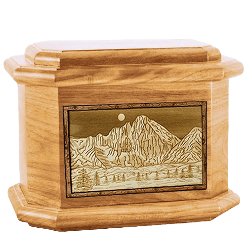 Longs Peak Oak Octagon Cremation Urn