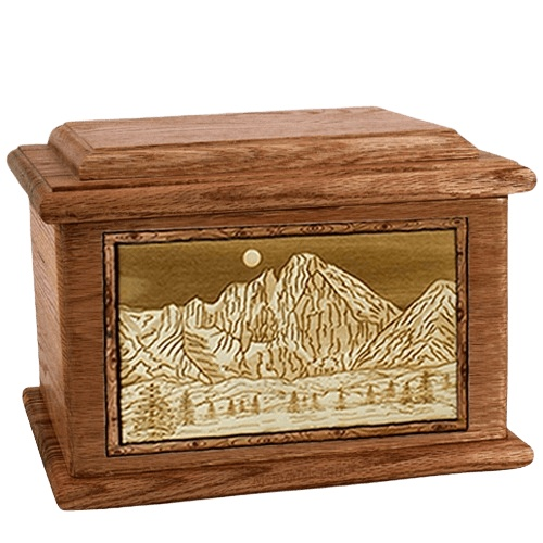 Longs Peak Walnut Memory Chest Cremation Urn