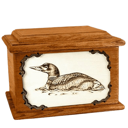 Loon Mahogany Memory Chest Cremation Urn