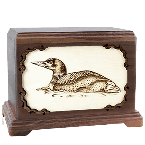 Loon Walnut Hampton Cremation Urn