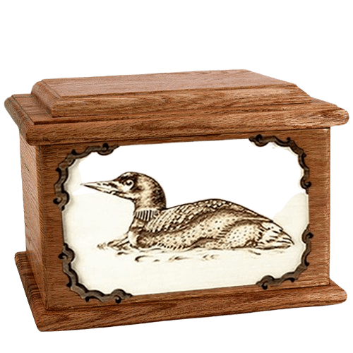 Loon Walnut Memory Chest Cremation Urn