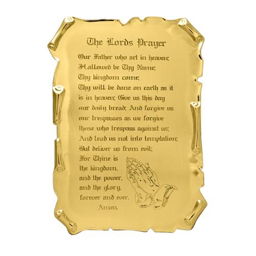 Lords Prayer Medallion Applique
