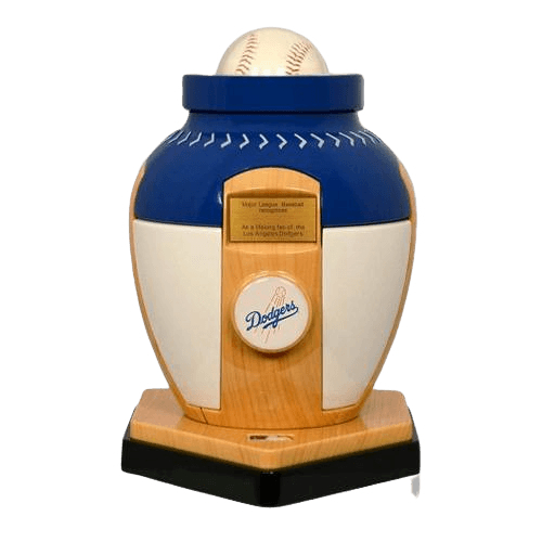 Los Angeles Dodgers Baseball Cremation Urn