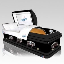 Los Angeles Dodgers Casket