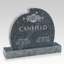 Lotus Companion Granite Headstone