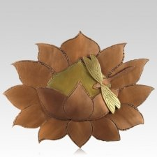 Lotus Copper Cremation Urn