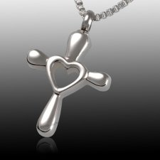 Love Cross Cremation Pendant