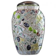 Love Mosaic Cremation Urn