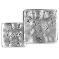 Love Never Fails Comfort Tokens