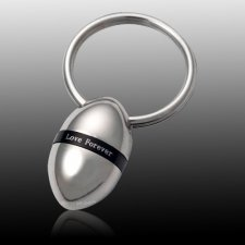 Love Oval Cremation Keychain