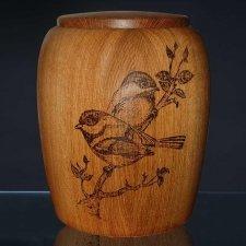 Lovebird Wood Cremation Urn