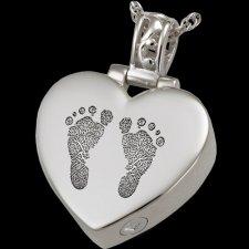 Lovely Heart Cremation Print Keepsakes