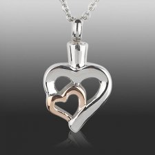 Lovers Heart Cremation Necklace