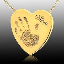 Loving Heart 14k Gold Cremation Print Keepsake