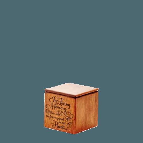 Loving Memory Wood Keepsake Urn