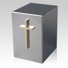 Lustro Cross Steel Urn