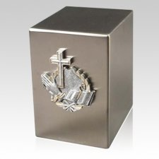 Lustro Faith Steel Urn