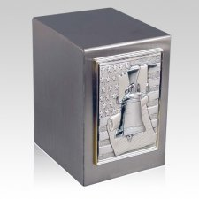 Lustro Liberty Bell Steel Urn