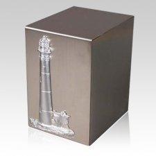 Lustro Lighthouse Steel Urn