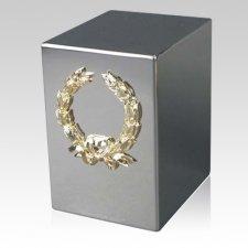 Lustro Wreath Steel Urn