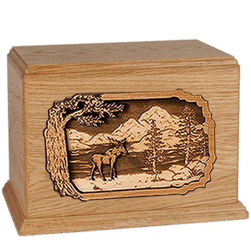 Moose Oak Companion Urn
