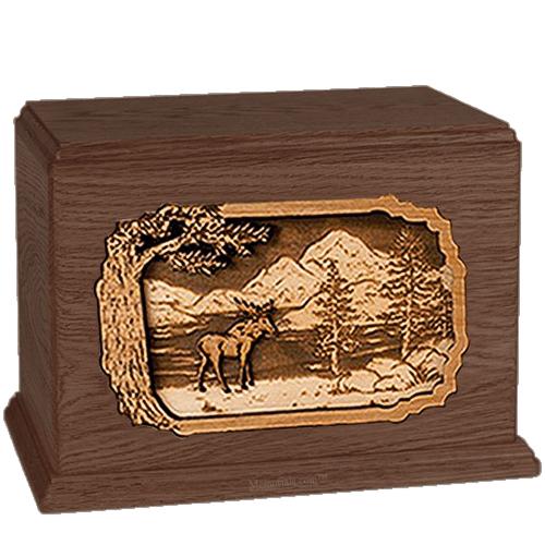 Moose Walnut Companion Urn
