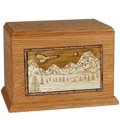 Mount Splendor Mahogany Cremation Urn For Two