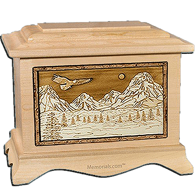 Mount Splendor Maple Cremation Urn For Two