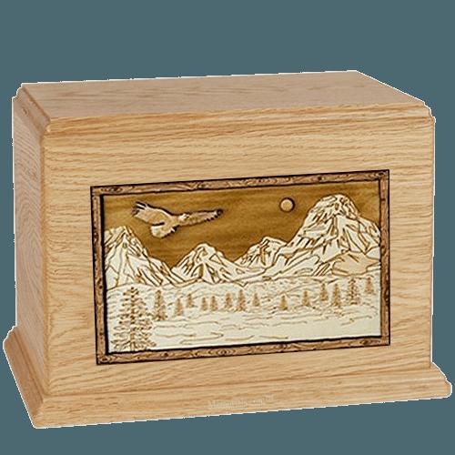 Mount Splendor Maple Cremation Urn For Two