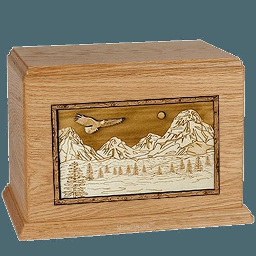 Mount Splendor Oak Cremation Urn For Two