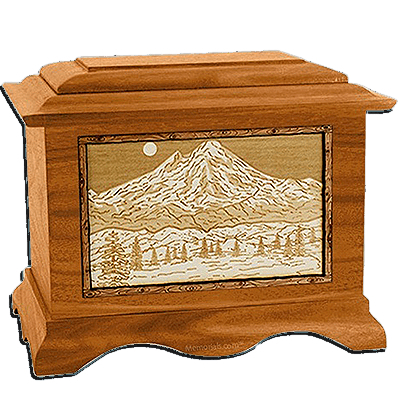 Mt Baker Mahogany Cremation Urn For Two