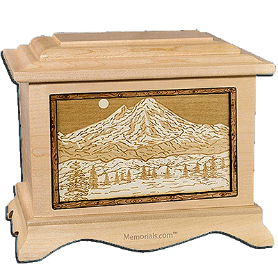Mt Baker Maple Cremation Urn For Two