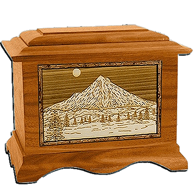Mt Hood Mahogany Cremation Urn For Two