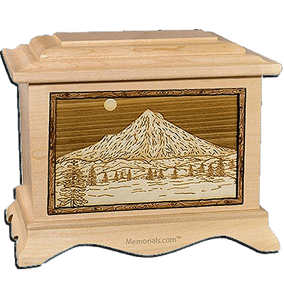 Mt Hood Maple Cremation Urn For Two