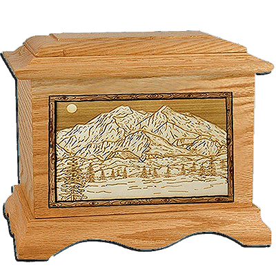 Mt Mckinley Oak Cremation Urn For Two