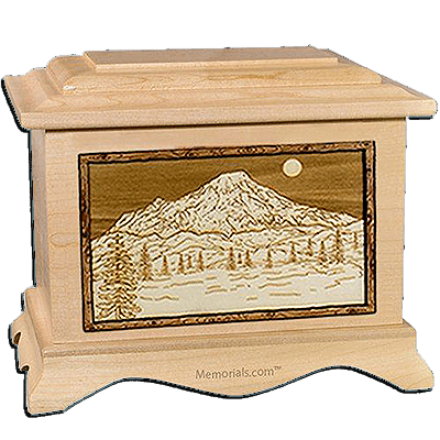 Mt Rainer Maple Cremation Urn For Two