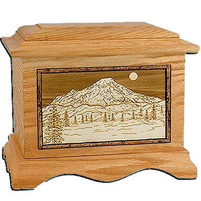 Mt Rainer Oak Cremation Urn For Two